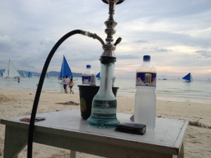 Sheesha on the beach with Fisto, THC, and a gorgeous view.