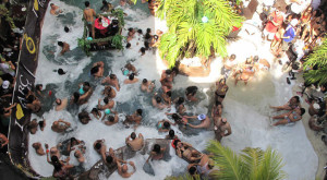 The pool party crowd in Angeles City Philippines