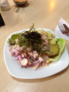 Ceviche in Lima Peru