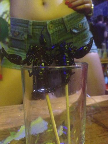Asian girls eat scorpions