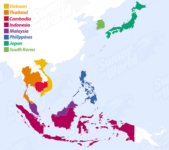 Asian Girls Overview Map