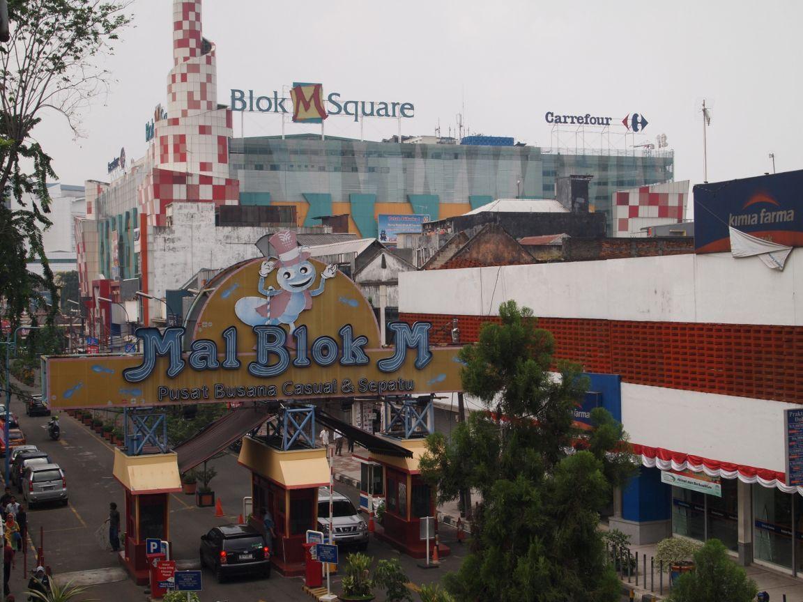 Blok M shopping Jakarta