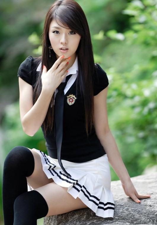 sexy korean high school girl