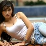 Indonesian girl posing for photo shoot