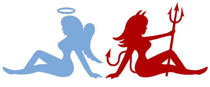 types-of-girls---angel-and-devil