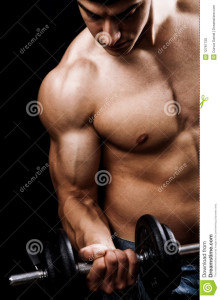 http://www.dreamstime.com/stock-photo-powerful-muscular-man-lifting-weights-image12781730