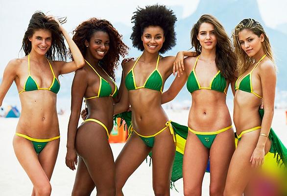 Brazilian girls of the beach in Rio