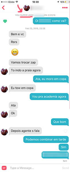 Tinder super likes work well on Brazilian girls