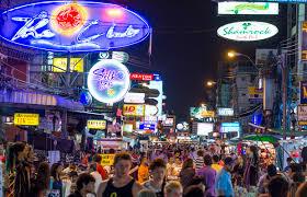 night in bangkok khao san road