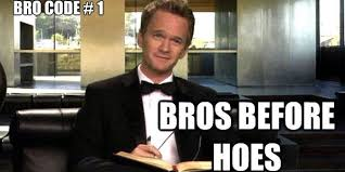the golden bro code rule bros before hoes